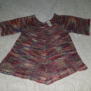 Multi colored Faded glory knit tunic